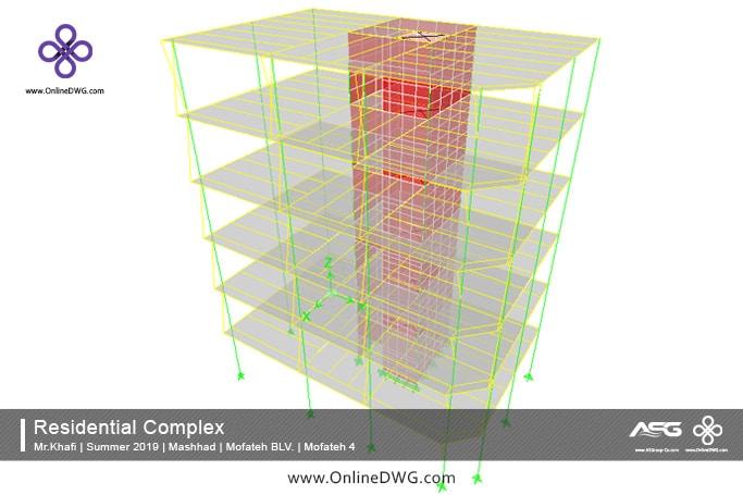 آخرین پروژه های طراحی شده سازه   معماری   تاسیسات   پروژه 12