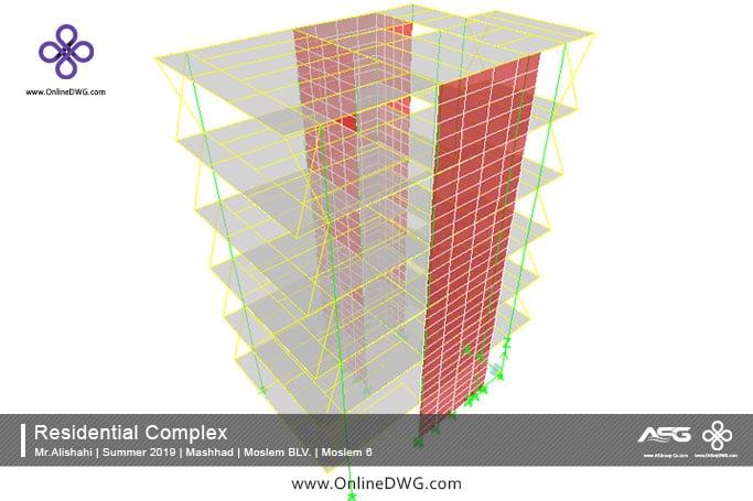 آخرین پروژه های طراحی شده سازه   معماری   تاسیسات   پروژه 14