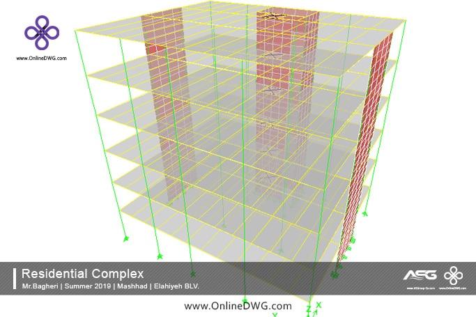 آخرین پروژه های طراحی شده سازه   معماری   تاسیسات   پروژه 15