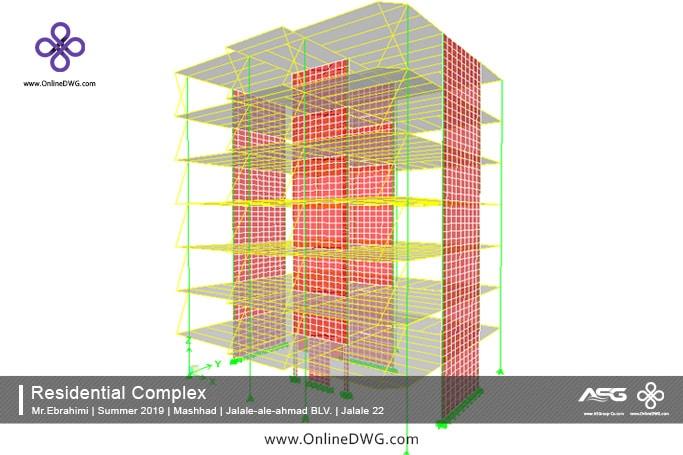 آخرین پروژه های طراحی شده سازه   معماری   تاسیسات   پروژه 17