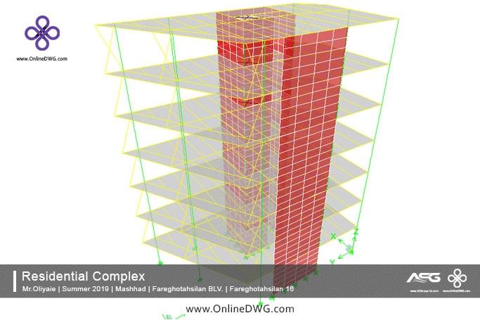 آخرین پروژه های طراحی شده سازه | معماری | تاسیسات | پروژه 11