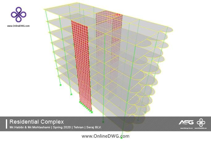 آخرین پروژه های طراحی شده سازه | معماری | تاسیسات | پروژه 23