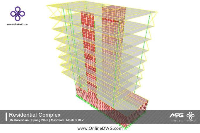 آخرین پروژه های طراحی شده سازه | معماری | تاسیسات | پروژه 25